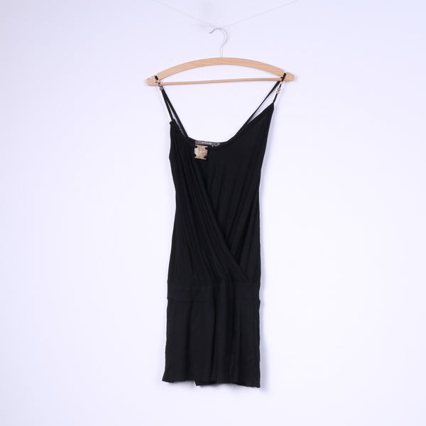 River Island Womens 10 M Tunic Black Spaghetti Straps Top