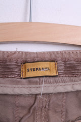 New Stefanel Womens 40 S Trousers Gold Pantalone Over Drill - RetrospectClothes