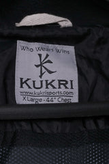 KUKRI Mens XL Pullover Jacket Black Coca Cola Rugby Ulter Hooded Lightweight Top
