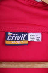 Crivit Sport Womens L 18/20 Jumper Zip Neck Pink
