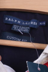 New Ralph Lauren Womens XL Polo Shirt Navy Short Sleeve Custom Fit