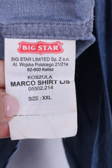 Big Star Mens 2XL (XL) Casual Shirt Cotton Jeans Denim Blue Top