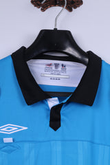 Umbro The Football League Mens XL Polo Shirt Blue Premier League Jersey Top
