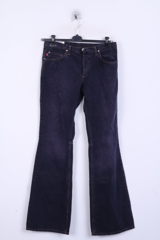 New MUSTANG Jeans Womens W31 L36 Jeans Trousers Bootcut Plum Cotton