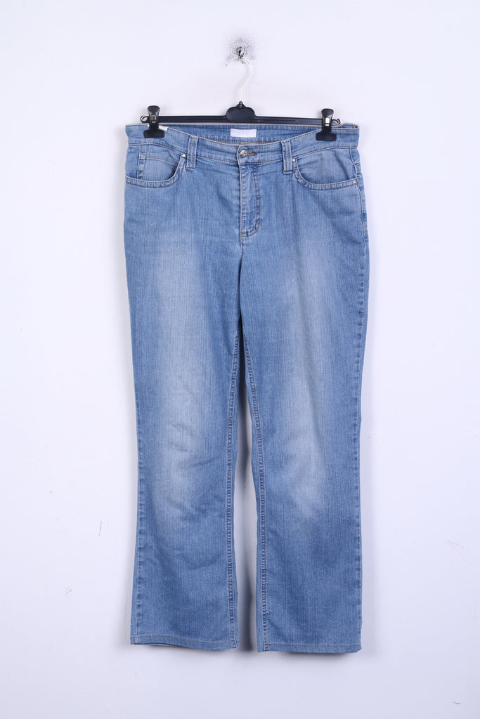 MAC Jeans Womens 46/32 Trousers Denim Jeans Blue Light Wash Cotton