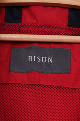 Bison Mens M Jacket Red  Cotton Nylon Blend Lightweight Casual Top