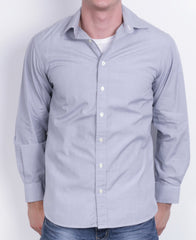 Thomas Pink Jermyn Street Mens 15.5 M Casual Shirt Cotton Long Sleeve Grey - RetrospectClothes