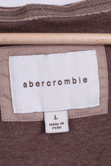 Abercrombie Girls L Tunic Jumper Brown Cotton Hood - RetrospectClothes