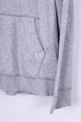 Adidas Mens 46/48 XXL Jacket Tracksuit Top Full Zipper Grey Sport Top Running 90s - RetrospectClothes