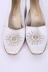 Gabriele By G.Beni Womens 37 Shoes White Platform Leather Italy