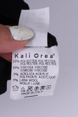 Kali Orea Womens 10 S Mini Dress Multi print Black Short Sleeve Different Textures Italy