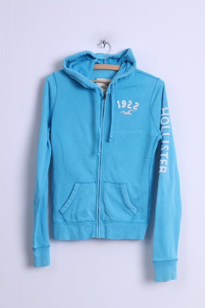 Hollister Womens M Sweatshirt Turquoise Cotton Hooded Zip Up California Hoodie