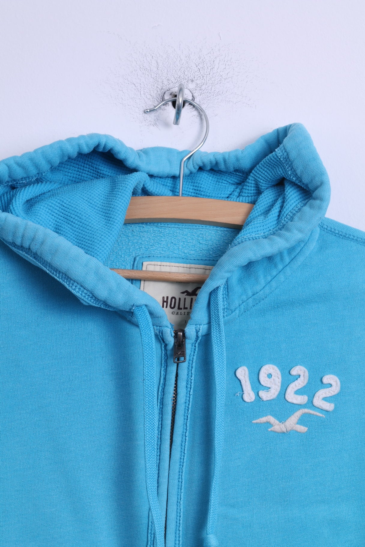 Hollister Womens Turquoise Blue Zip Up