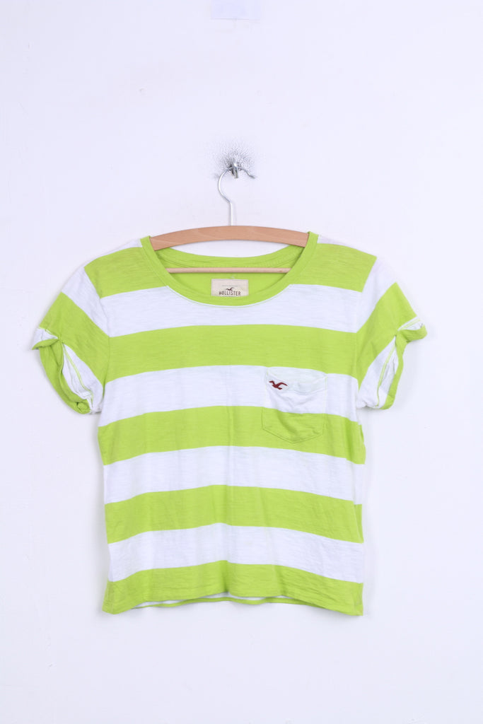 HOLLISTER California Womens M Shirt Striped Green Cotton - RetrospectClothes