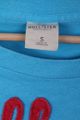 HOLLISTER Mens S T-Shirt Light Blue Cotton Crew Neck So .CALIF