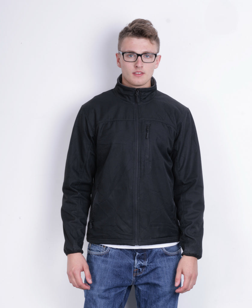Champion Mens M Sweatshirt Full Zipper Black Sport - RetrospectClothes