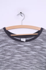 Abercrombie & Fitch Womens M Jumper Grey Cotton Crew Neck Sweater