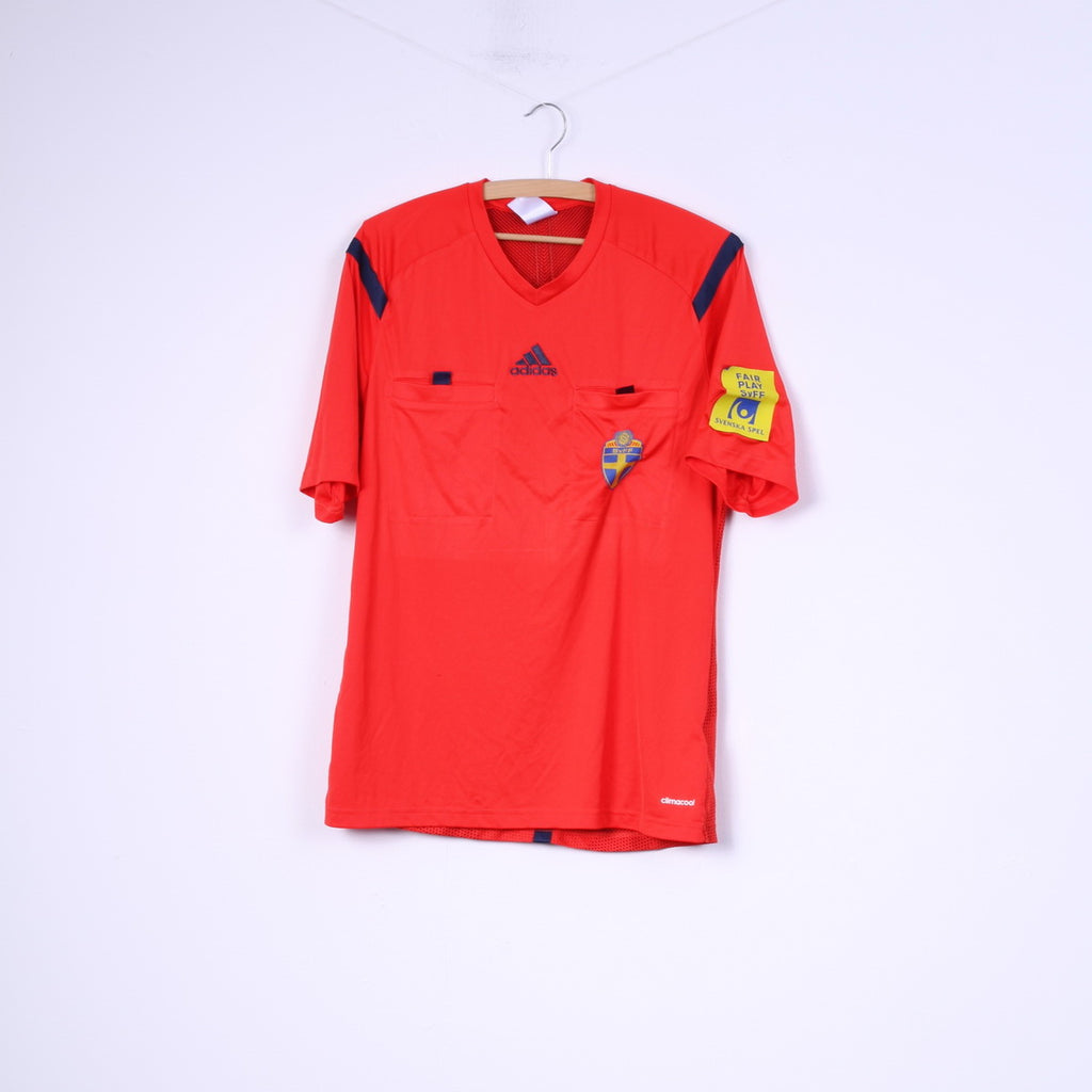 Adidas Svenska Fotbollförbundet Mens M Shirt Red Football Club Top