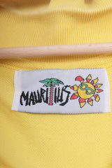 Mauritius Mens XL Polo Shirt Yellow Short Sleeve Cotton - RetrospectClothes