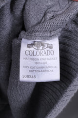 Colorado Denim Mens 2XL Jumper Swetaer Full Zipper Grey Cotton Top Harrison Knit Jacket