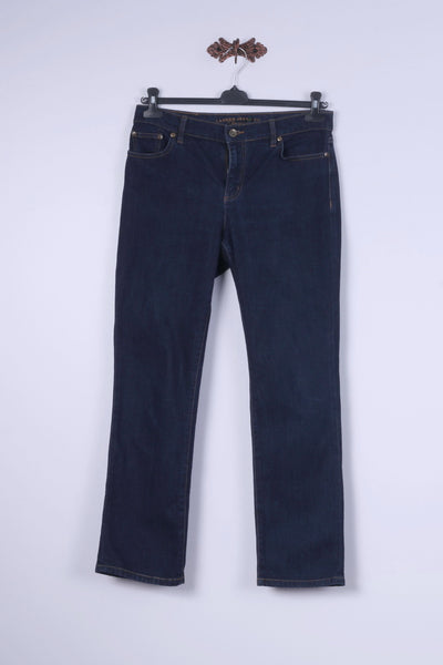 Lauren Jeans Co Womens 6P Trousers Navy Classic Staight Leg Denim Pants