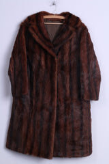 Womens M Coat Authentic Fur Long Ginger Goat Boho Vintage