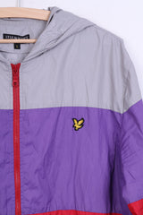 Lyle & Scott Heritage Mens L Jacket Track Top Hood Grey