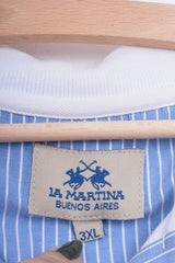 La Martina Mens 3XL Polo Shirt White Argentino Buenos Aires Cotton - RetrospectClothes
