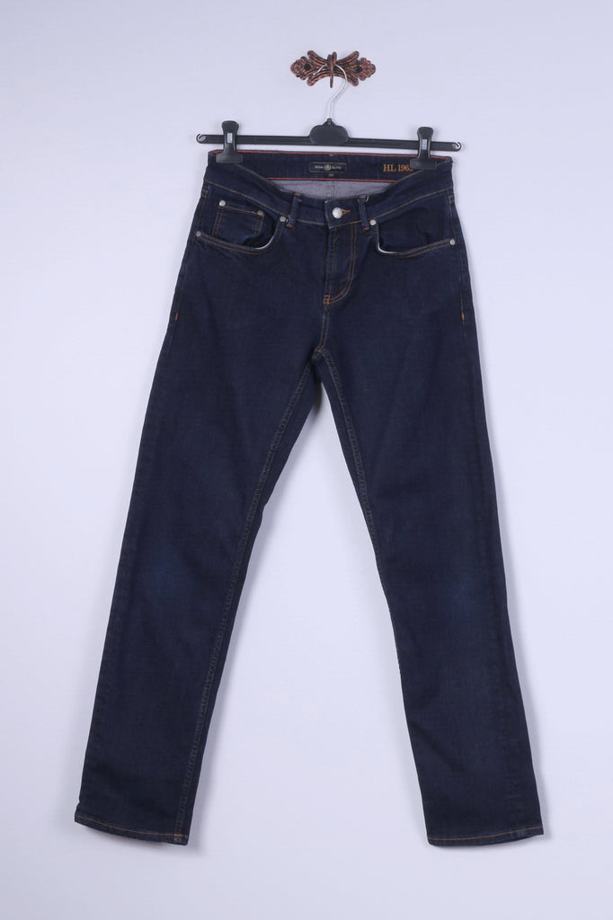 Henri Lloyd Womens W30 Jeans Trousers Navy Cotton Straight Leg Pants