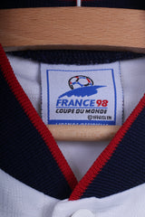 France 98 Boys M 8 age Shirt White Vintage Coupe De Monde 1998 France World Cup