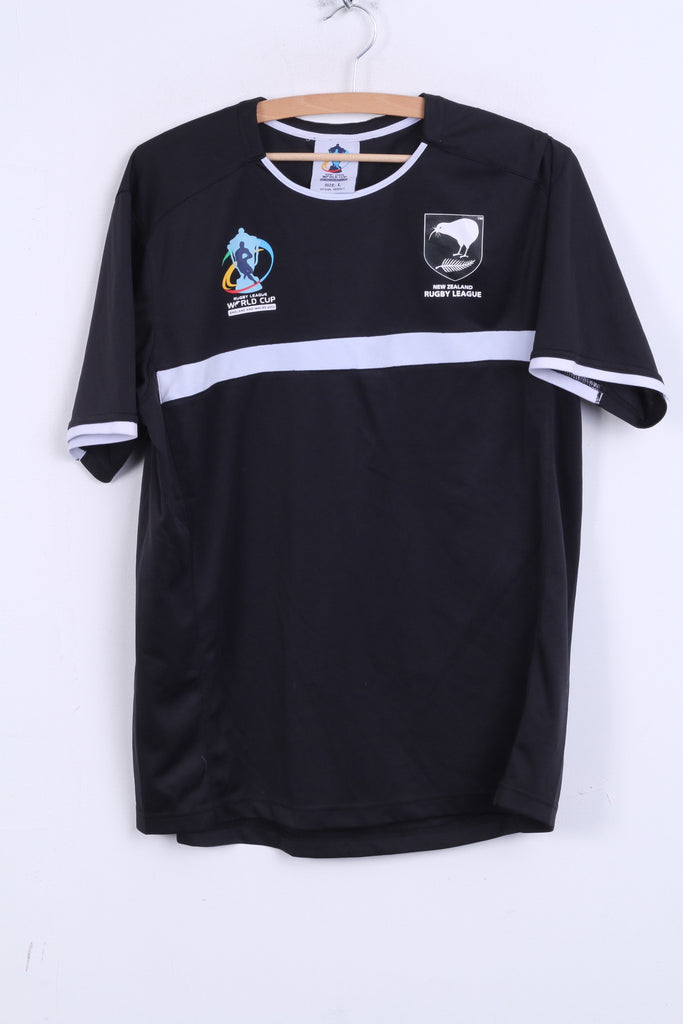 ISC New Zealand Mens L Shirt Black Rugby League England and Wales 2013 - RetrospectClothes