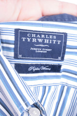 Charles Tyrwhitt Mens M Casual Shirt Striped Buttons Down Collar Cotton - RetrospectClothes
