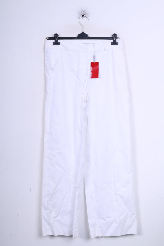 New More&More Womens 42 XL Trousers White Cotton