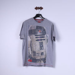 Star Wars Mens L T-Shirt Grey Tee Graphic Crew Neck Short Sleeve Top