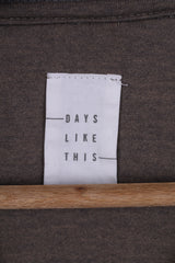 DAYS LIKE THIS Womens L Shirt Long Sleeve Grey Crew Neck Striped