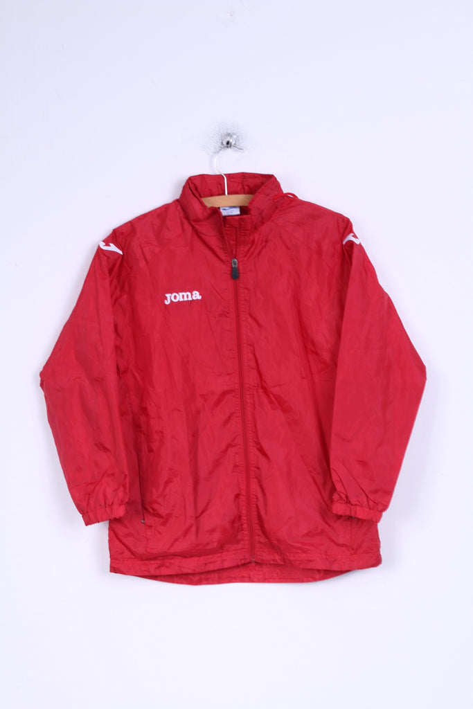 Joma Boys YL 12 age Jacket Red Zip Up Sport Training Lightweight Top