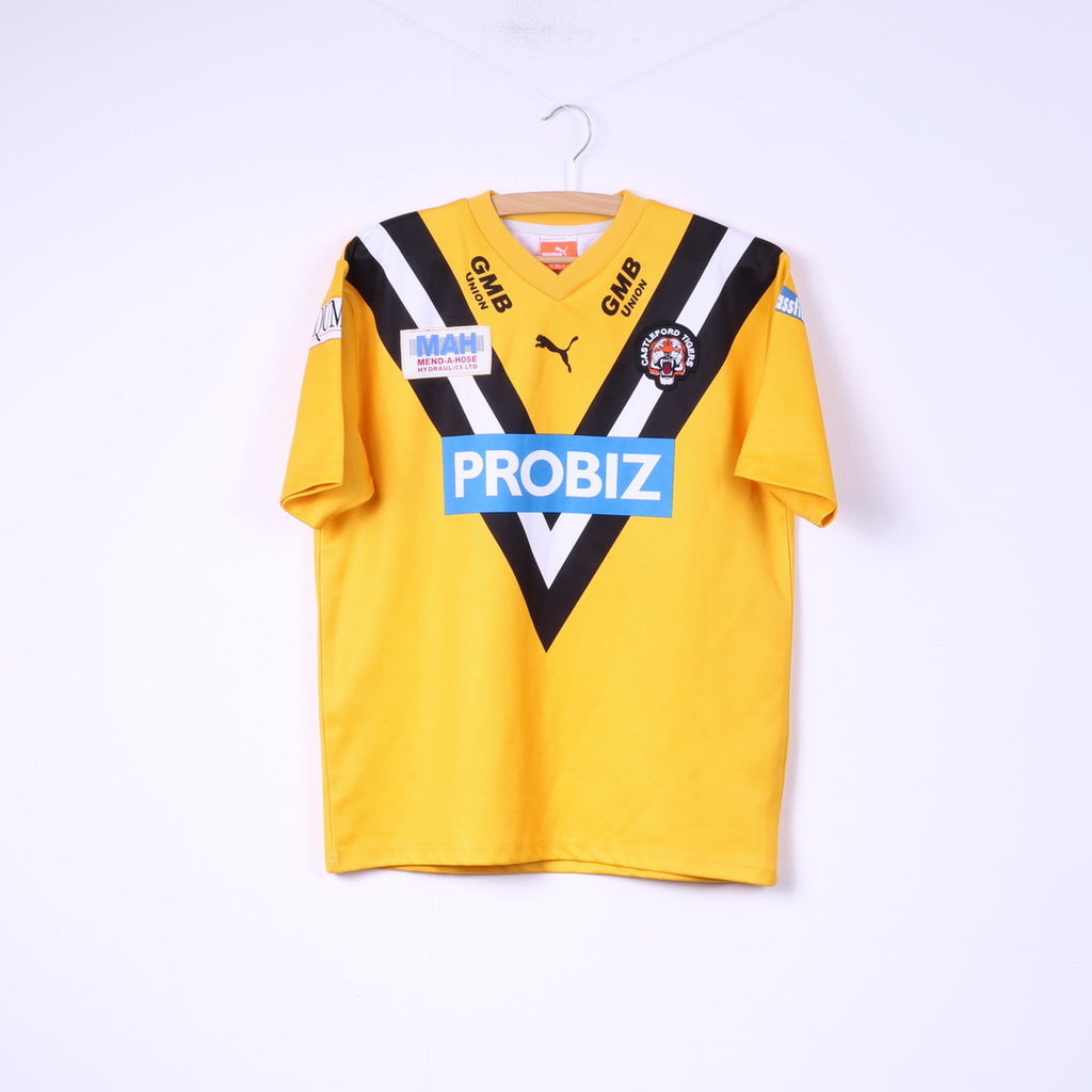 Puma Castleford Tigers Boys 164 14 Age Shirt Sportswear GMB Union Yellow Top
