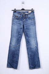 New Hilfiger Denim Womens W26 L34 Trousers Denim Jeans Cotton Blue
