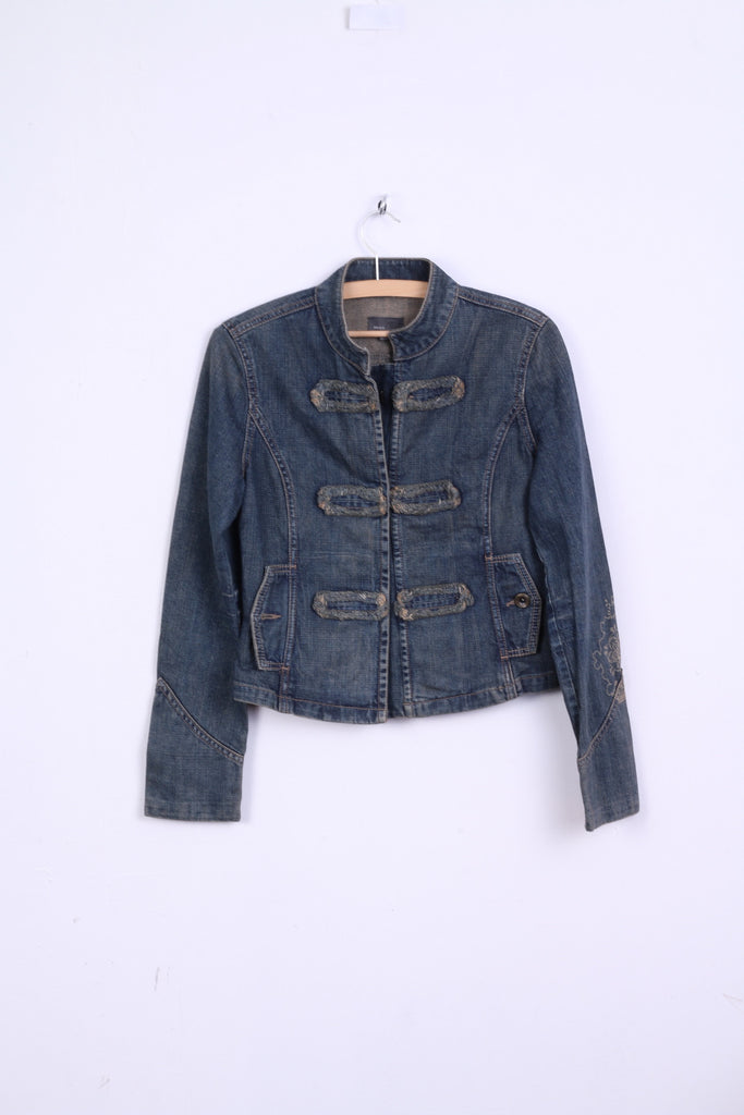 MEXX Womens S 10 Denim Jacket Blue Vintage Cotton Jeans