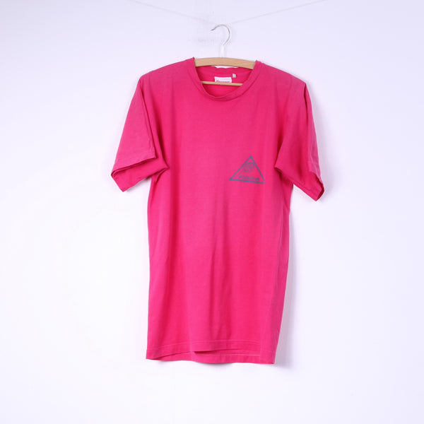 Rossignol Sportline Mens S T-Shirt Cotton Pink Slin Fit Sportswear Top