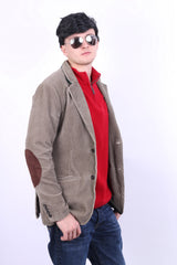 Cottonfield Active Wear Mens 48 S/M Corduroy Blazer Brown Cotton Jacket - RetrospectClothes