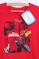 New MARVEL Spider-Man Boys 158-164 Shirt Long Sleeve Red Cotton - RetrospectClothes