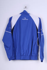 Diadora Boys 170  Jacket Blue Full Zipper Sport Training Lightweight