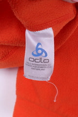 Odlo Womens S Fleece Top Orange Sweatshirt Zip Neck Activewear Top