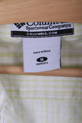 Columbia Womens M Casual Shirt Check Short Sleeve Cotton