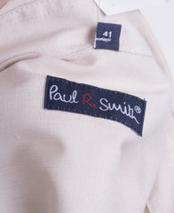 Paul R. Smith Mens 41 M Casual Shirt Beige Long Sleeve Cotton - RetrospectClothes