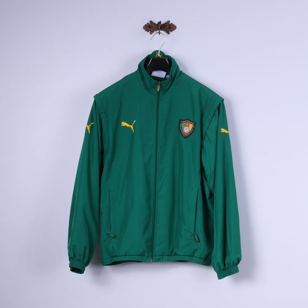 Puma Mens M Jacket Green Lightweight Camerounaise De Football Federation Top