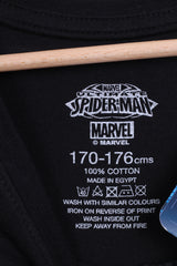 New MARVEL Spider-Man Mens 170-176 Shirt Black Long Sleeve - RetrospectClothes