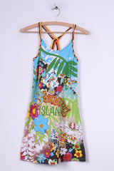 Mayoral Girls 18 167cm Mini Dress Cross Back Cotton Multiprint Summer