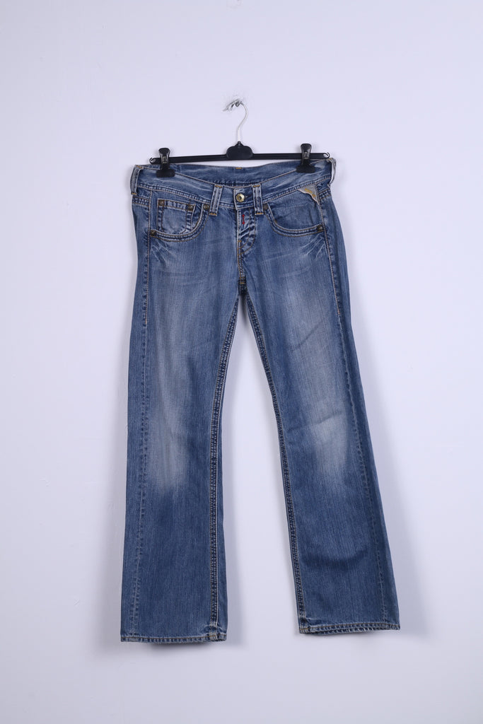 Replay Womens W31 L34 Trousers Denim Jeans Cotton Bootcut